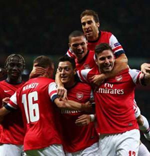 Arsenal goal celebration