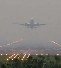 kabut asap bandara
