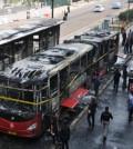 bus transjakarta terbakar busway