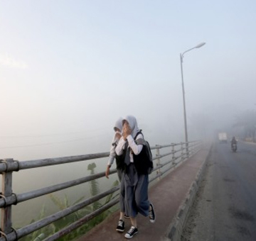 kabut asap siswa