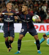 Neymar PSG selebrasi