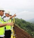 Menteri PUPR, Basuki Hadimuljono, tinjau progres proyek bendungan Sukamahi, Bogor.