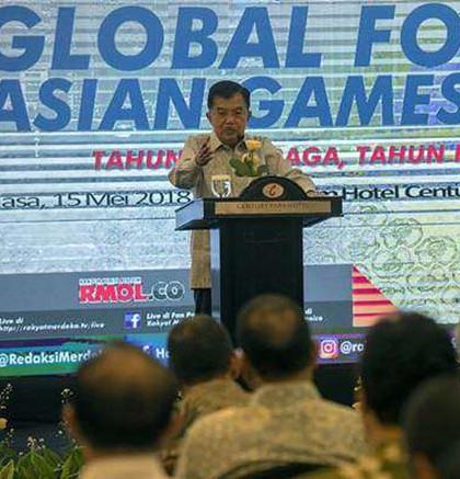 Wapres Jusuf Kalla diskusi Asian Games Rakyat Merdeka