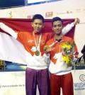 Atlet wushu peraih emas Kejuaraan dunia wushu Junior di Barasil