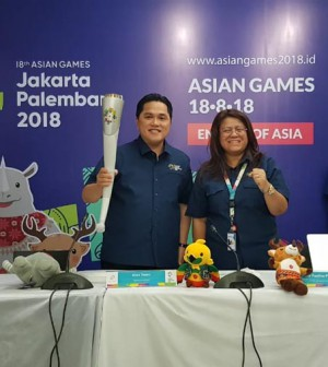 Erick dan obor Asian Games