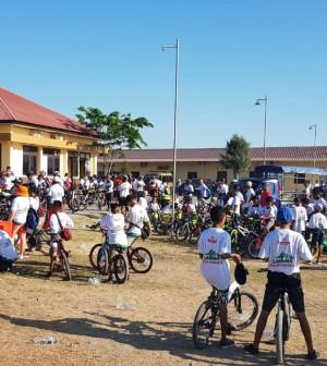 Para peserta Sepeda Nusantara Kupang