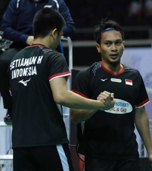 Hendra Ahsan Semifinal Singapura Terbuka 2019