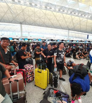 Suasana bandara Hongkong
