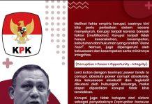 Salah satu pemikiran Ketua Komisi Pemberantasan Korupsi (KPK) Firli Bahuri seputar penanganan korupsi di Indonesia